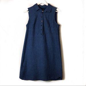 Tahari ASL Collared 1/4 Button Shirt Dress